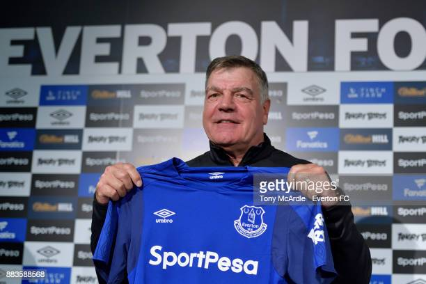 New Everton manager Sam Allardyce during the Everton press conference at USM Finch Farm on December 1 2017 in Halewood England