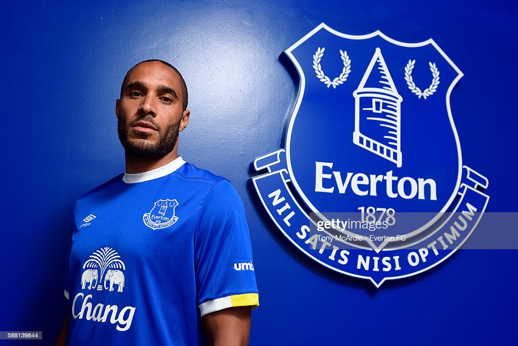 New Everton signing Ashley Williams poses for a photo at Finch Farm on August 09, 2016 in Halewood, England.
