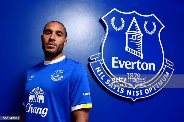New Everton signing Ashley Williams poses for a photo at Finch Farm on August 09 2016 in Halewood England
