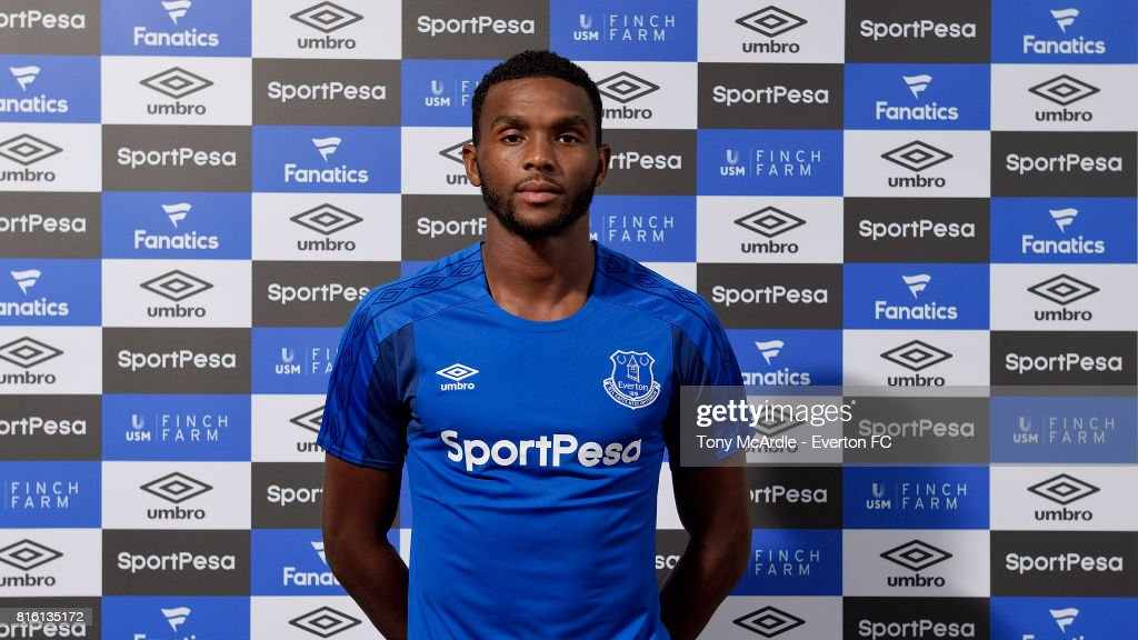 New Everton signing Cuco Martina poses for a photo at USM Finch Farm on July 17, 2017 in Halewood, England.