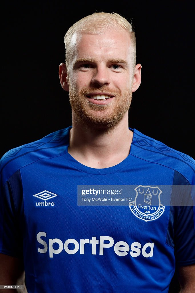 New Everton signing Davy Klaassen poses for a photo at USM Finch Farm on June 15, 2017 in Halewood, England.