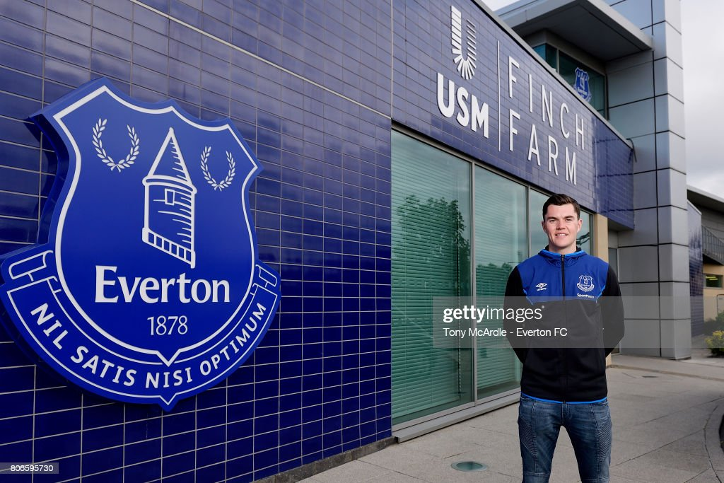 Everton Announce The Signing Of Michael Keane : News Photo
