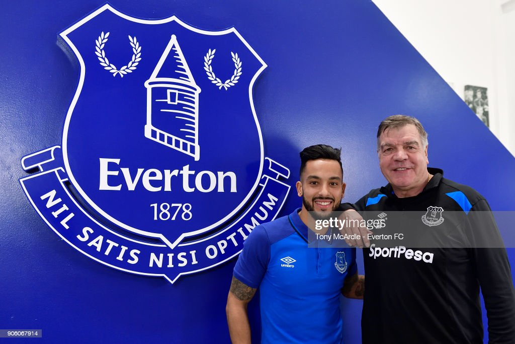 Everton Unveil New Signing Theo Walcott