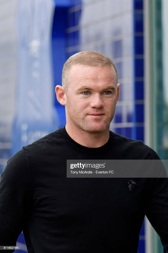 New Everton signing Wayne Rooney arrives for his first day at USM Finch Farm on July 10, 2017 in Halewood, England.