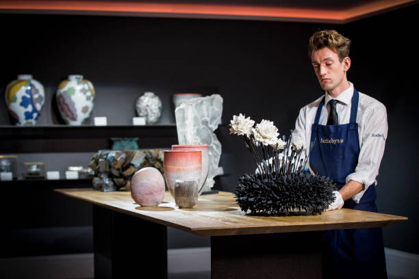 GBR: Opening Of Sotheby's London Showroom