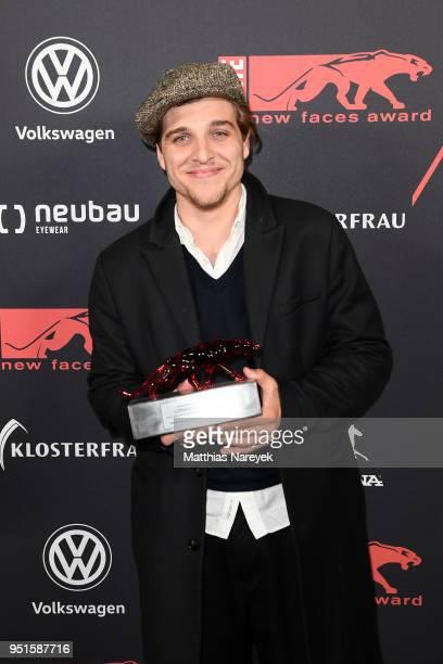 New Faces Award Winner Jonas Dassler poses at the New Faces Award Film at Spindler Klatt on April 26 2018 in Berlin Germany