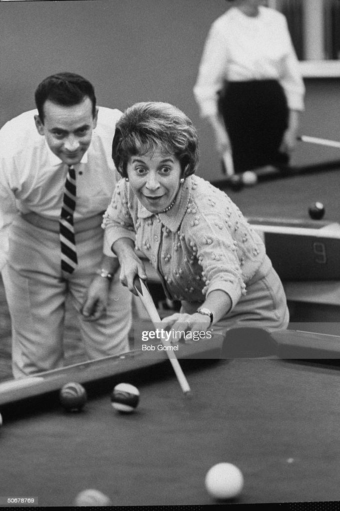 New fad, ladies take up billiard playing.