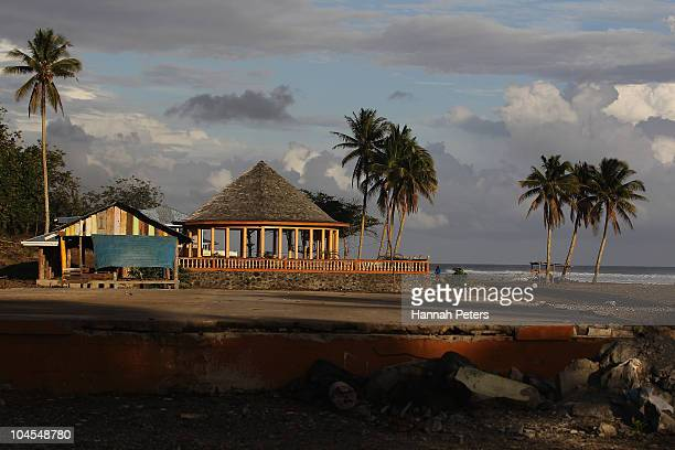 A new fale stands in the village of Saleapaga on September 28 2010 in Apia Samoa 189 people were killed and hundreds more injured in Samoa American...