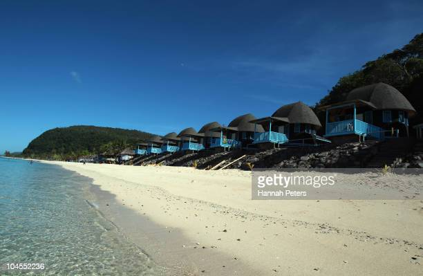 New fales are seen on Lalomanu beach on September 29 2010 in Lalomanu Samoa 189 people were killed and hundreds more injured in Samoa American Samoa...