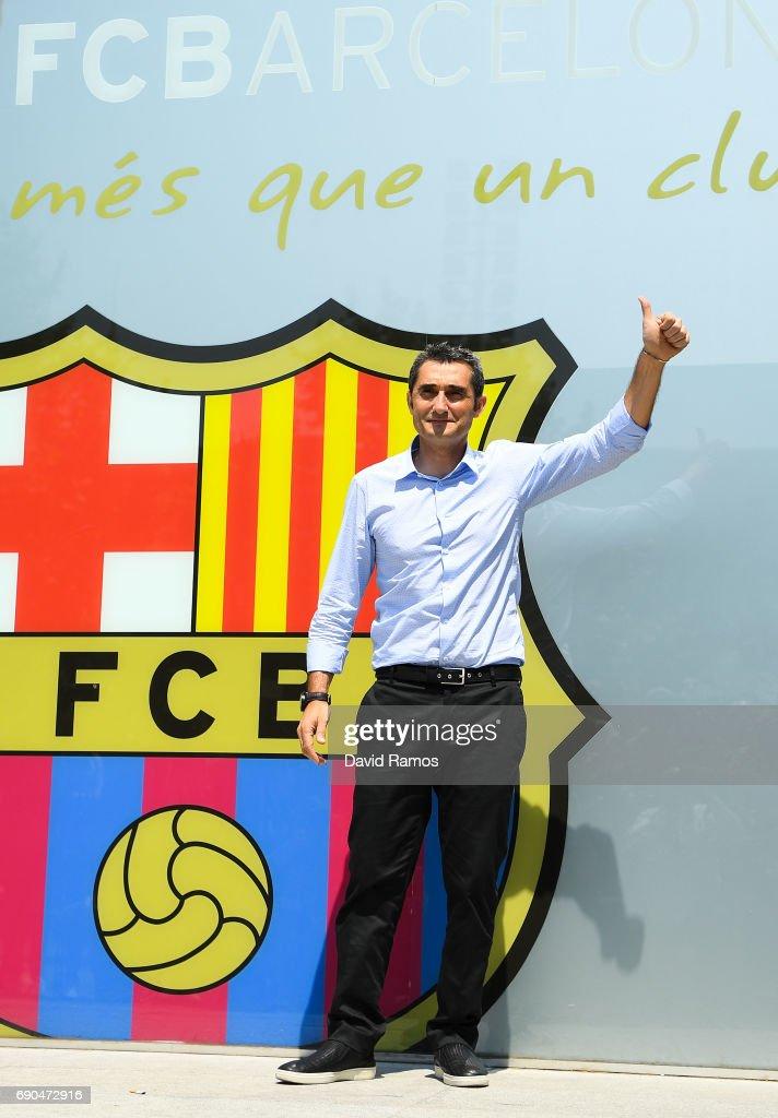 FC Barcelona Unveil New Head Coach Ernesto Valverde