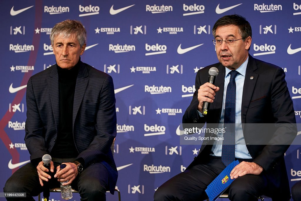 FC Barcelona Unveil New Coach Quique Setien : News Photo