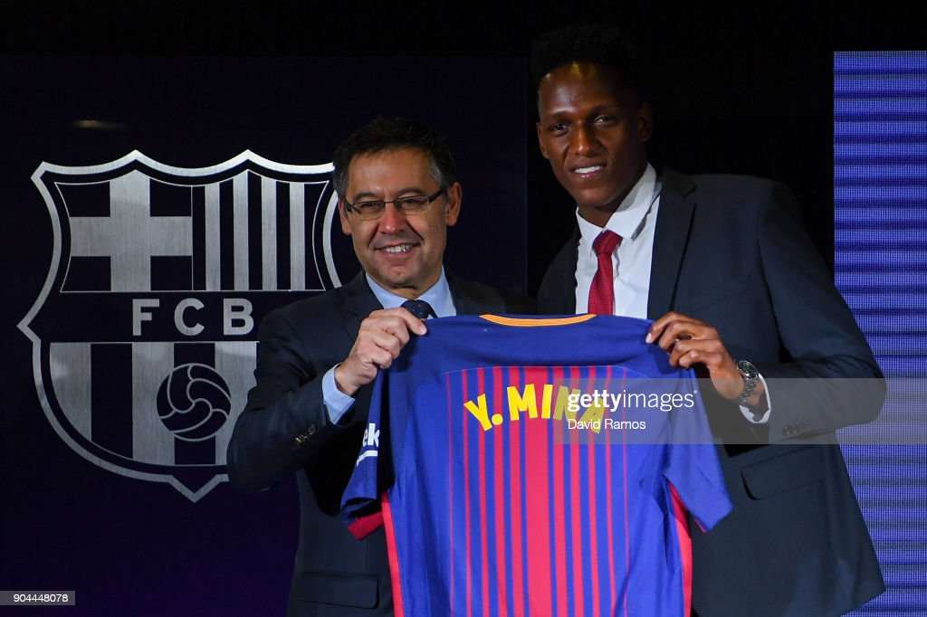 New Barcelona Signing Yerry Mina Unveiled