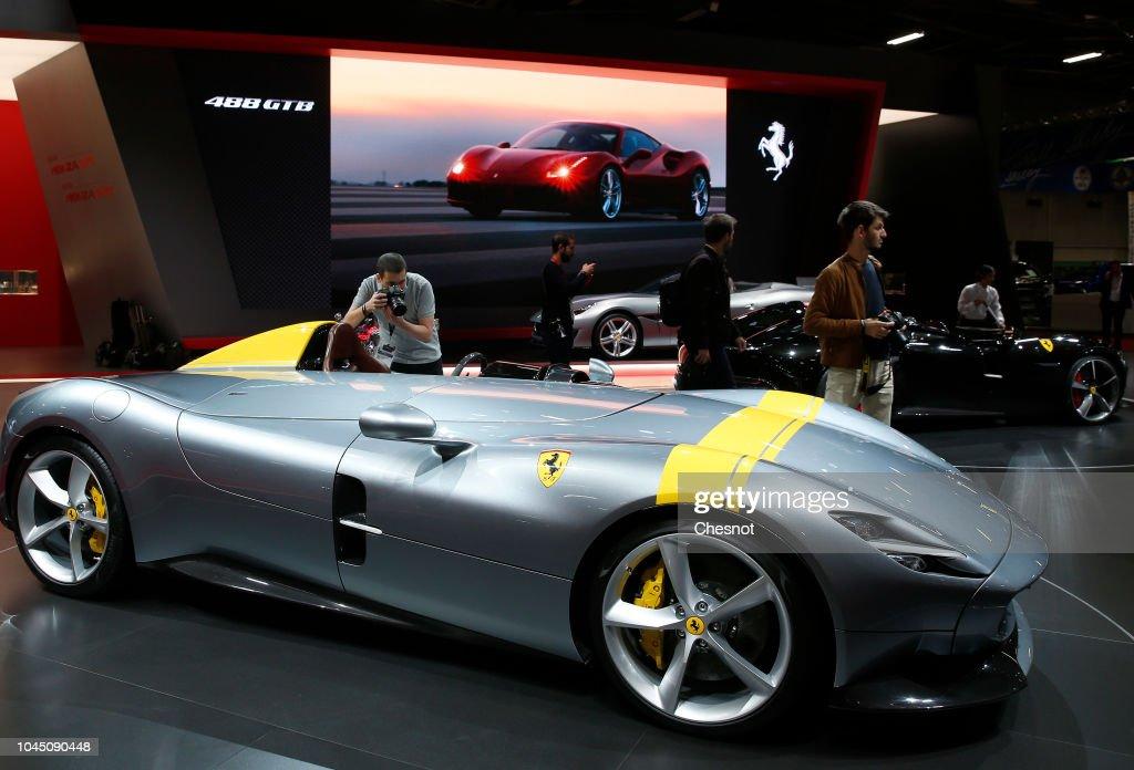 """Press Preview Prior the """"Mondial De L'Automobile"""" - Paris Motorshow 2018 At Porte de Versaill : News Photo"""