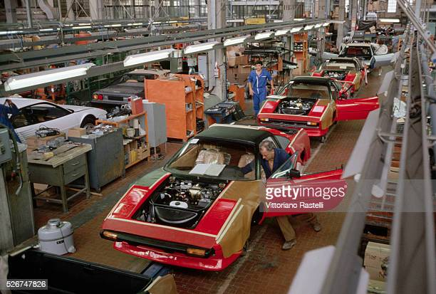 New Ferraris at the factory in Maranello Italy