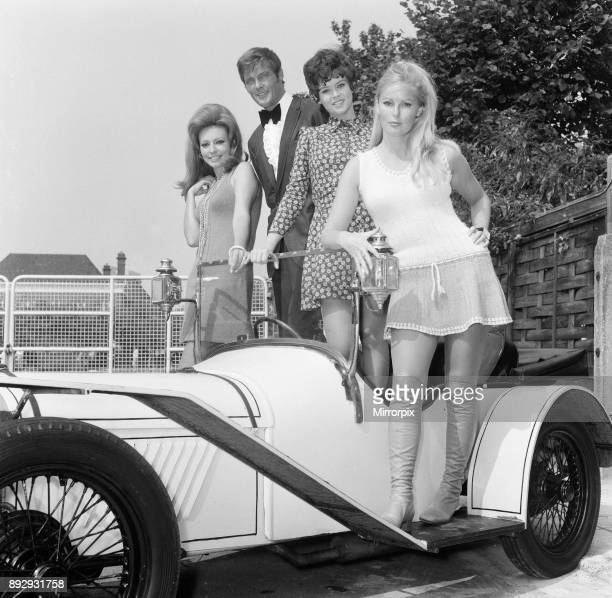 New film Crossplot begins production at Elstree Studios today Monday 9th September 1968 Our picture shows Claudie Lange Belgian actress and model...