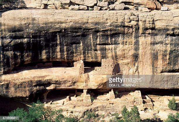 New Fire House and Fire Temple, Chapin Mesa, Mesa Verde National Park , Colorado, United States. Anasazi Civilisation.