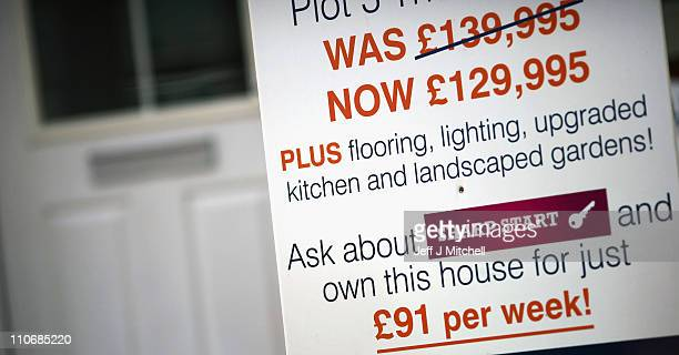 New first time buyer deals are offered on a development in the Parkhead area on March 23 2010 in Glasgow Scotland The Chancellor is expected to...
