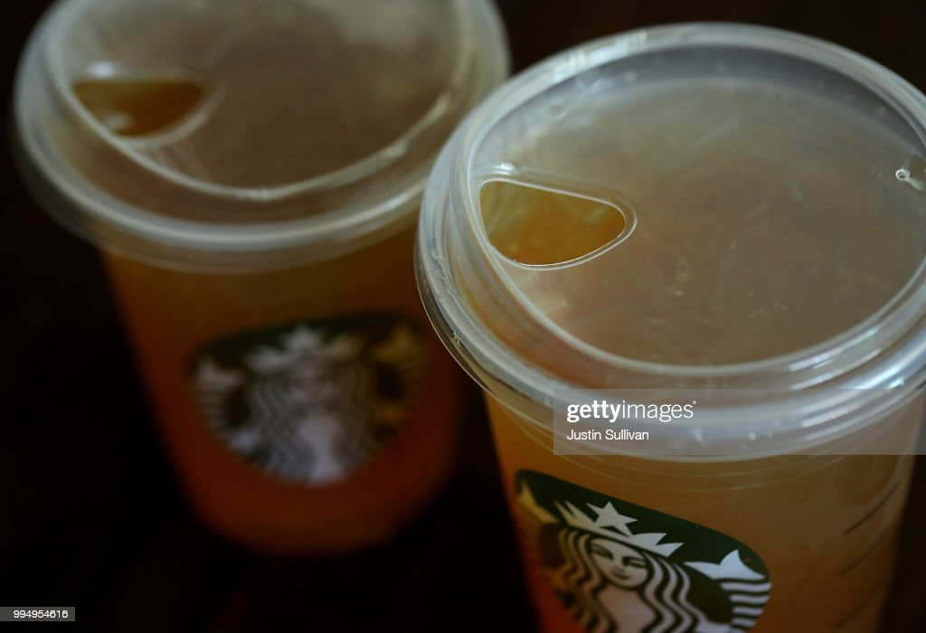 Starbucks To Eliminate Plastic Straws By 2020 : News Photo