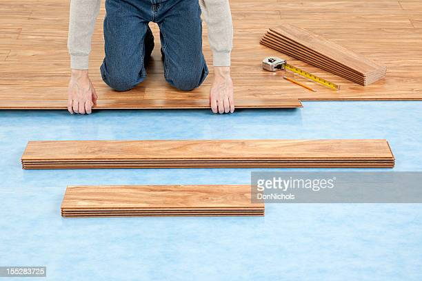 new floor installation - laminate flooring stock pictures, royalty-free photos & images