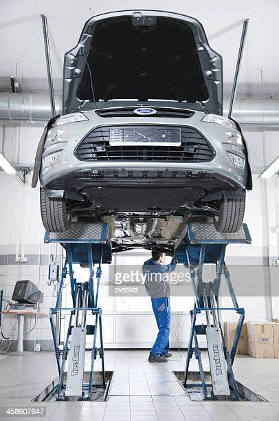 New Ford Mondeo in a car service.