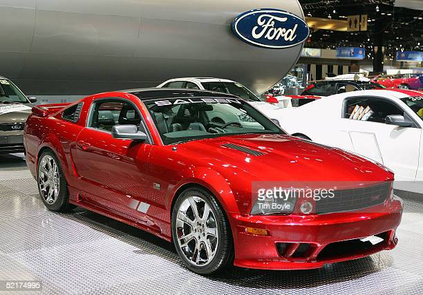 A new Ford Mustang Saleen is displayed at the 2005 Chicago Auto Show February 10 2005 in Chicago Illinois This is the 97th edition of the Chicago...