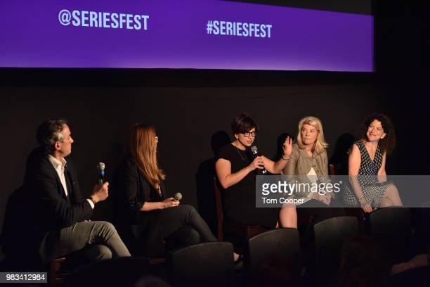 New Form Digital Kathleen Grace Lionsgate EVP Chris Selak and Executive Director of Variety Magazine Debra Birnbaum during the The Golden Age of...