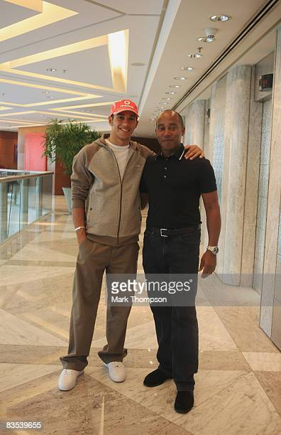 New Formula One World Champion Lewis Hamilton of Great Britain and McLaren Mercedes and his father Anthony Hamilton are photographed at the Hilton...