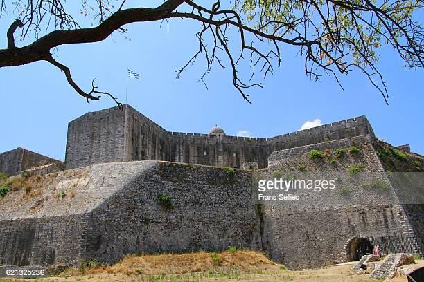 new fortress, corfu town, corfu island, greece - frans sellies stockfoto's en -beelden
