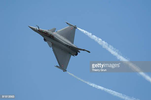 New french jet fighter Rafale in flight