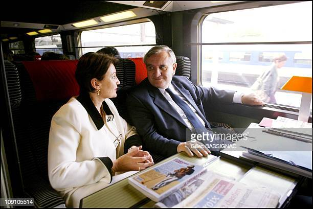 New French Prime Minister Jean-Pierre Raffarin Back To His Native Poitou-Charentes Region On August 5Th, 2002 In Poitiers, France. French Prime...