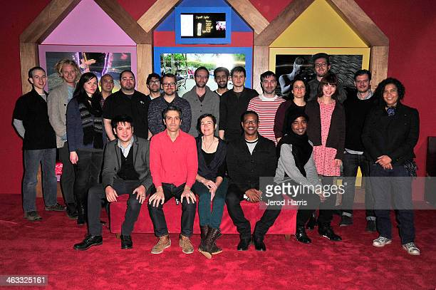 New Frontier participants attend the New Frontier Press Preview at New Frontier during the 2014 Sundance Film Festival on January 17 2014 in Park...