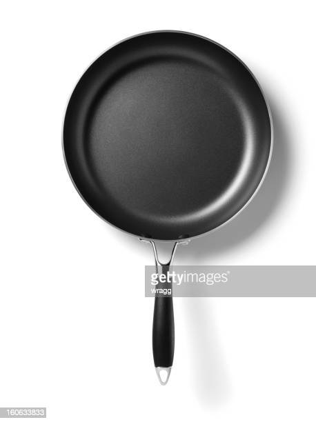 new frying pan - cooking pan stock pictures, royalty-free photos & images