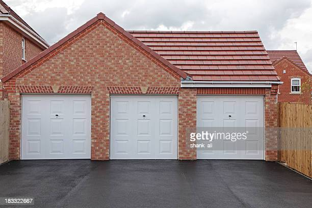 new garages - roof tile stock pictures, royalty-free photos & images