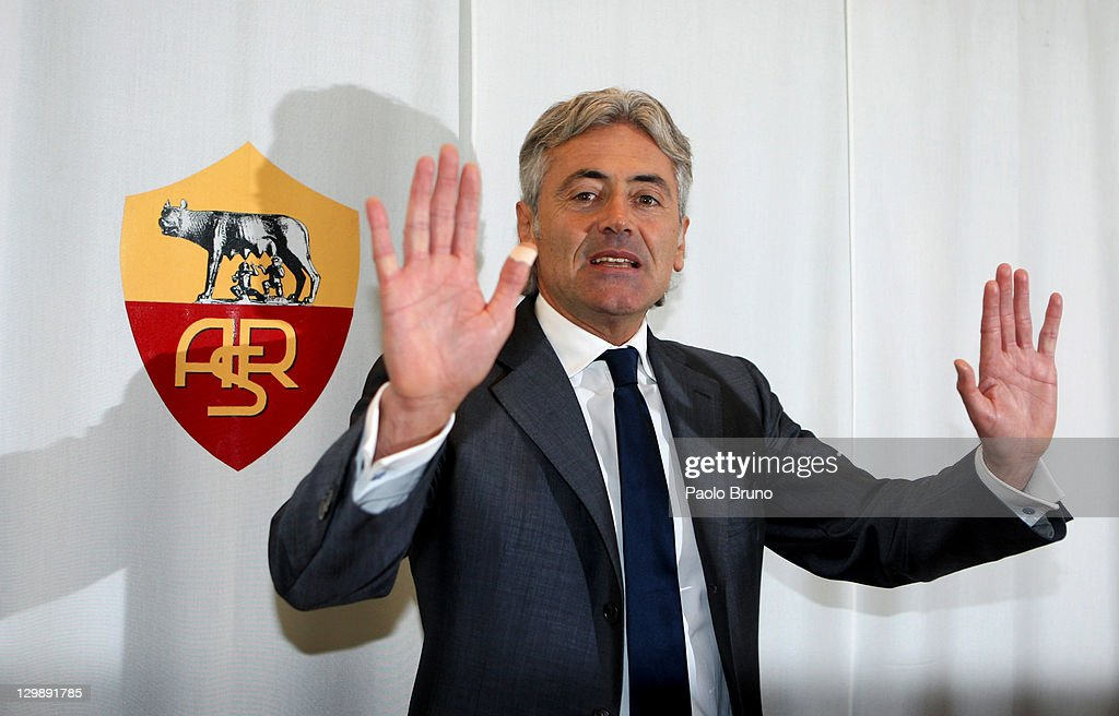 AS Roma Unveils New General Manager Franco Baldini : News Photo