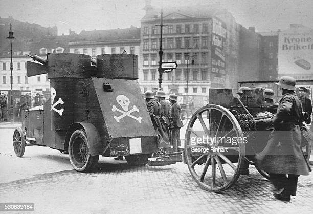 New General Strike in Berlin Which Has Caused Another Political Upheaval Berlin Germany In order to prevent Spartacan outbreaks Government troops are...