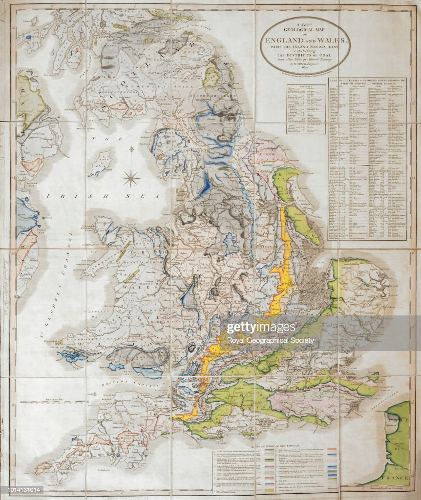 Full Map Of England.A New Geological Map Of England And Wales Full Title A New