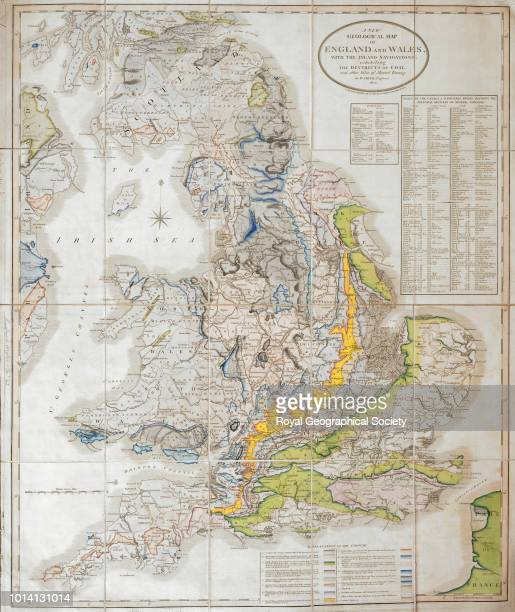 A new geological map of England and Wales Full title 'A New Geological Map of England and Wales with the Inland Navigations exhibiting the Districts...
