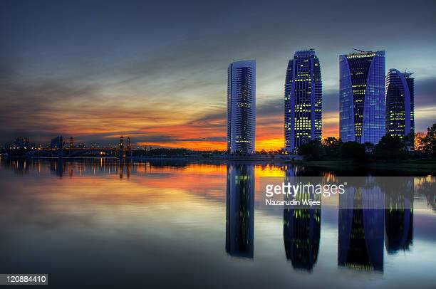 new government office building in putrajaya - putrajaya stock photos and pictures