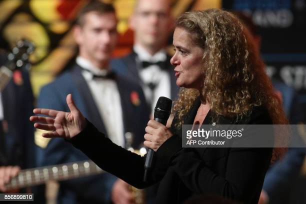 New Governor General Julie Payette speaks during a reception at the Canadian Museum of History for a reception in Gatineau, Quebec, October 2, 2017....