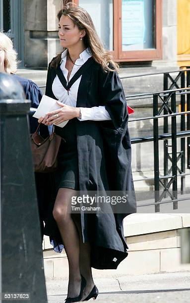 New graduate Kate Middleton attends the graduation ceremony at St Andrews University to collect his 21 Master of Arts Degree in Geography in St...