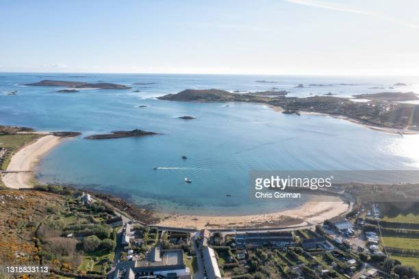 New Grimsby, Tresco, Isles Of Scilly, Bryher is pictured on April 8, 2021.
