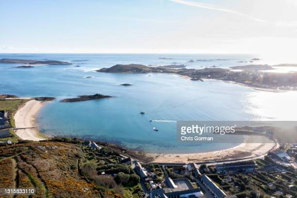 New Grimsby, Tresco, Isles Of Scilly looking towards Bryher on April 8, 2021.