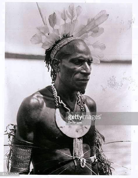 A Central New Guinea cannibal Chief