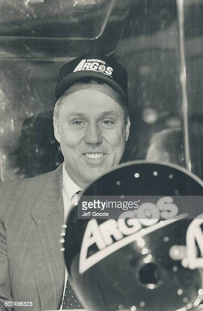 New guy in town Don Matthews tries on the local head gear yesterday at the SkyDome Although a defenceoriented boss Matthews said the Argo offence has...