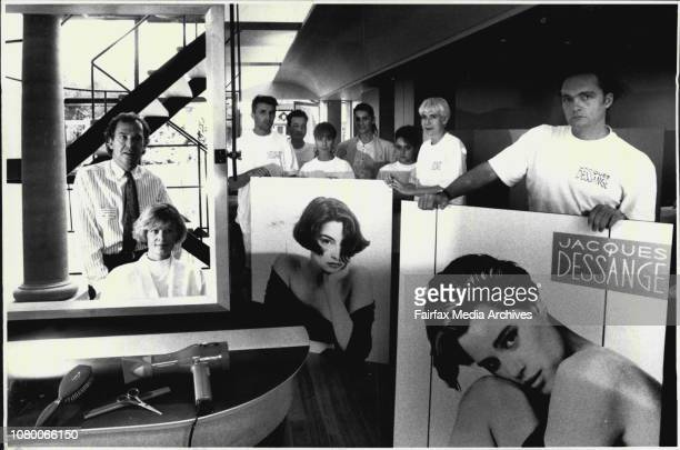 New Hair saloon Jacques Dessange in Oxford St Paddo with owners David Pelerman Margaret Williams and Bruce Packer and Other staff behindPelerman and...