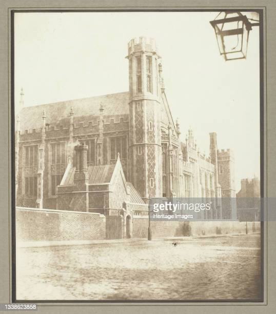 New Hall of Lincoln's Inn, London, circa 1841/46. A work made of salted paper print. Artist William Henry Fox Talbot.