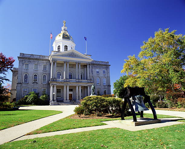 usa, new hampshire, concord, state capitol building, exterior - new your state capitol stock pictures, royalty-free photos & images