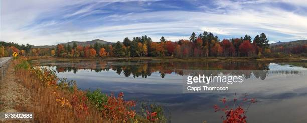 new hampshire fall panorama - cappi thompson stock pictures, royalty-free photos & images