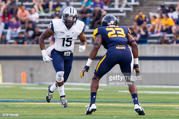 New Hampshire Wildcats wide receiver R.J. Harris during game action between the New Hampshire Wildcats, of the Colonial Athletic Association, and the...