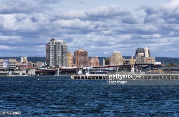 New Haven city skyline.